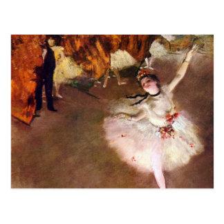 Prima Ballerina by Edgar Degas Vintage Ballet Art Postcard
