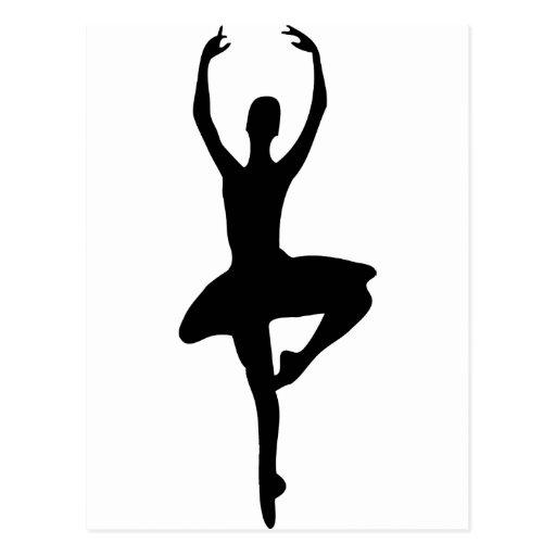 prima ballerina icon postcard
