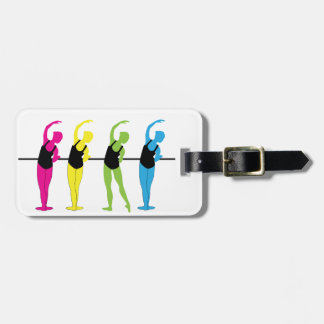 prima Ballerina luggage tag
