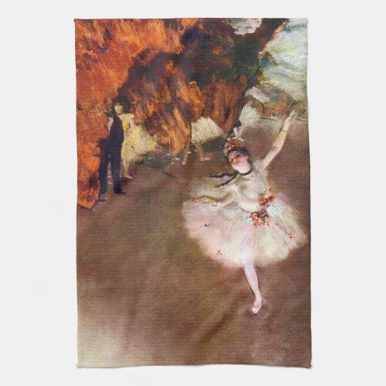 Prima Ballerina, Rosita Mauri by Edgar Degas Kitchen Towels