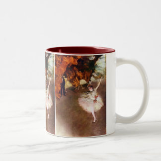 Prima Ballerina, Rosita Mauri by Edgar Degas Two-Tone Coffee Mug