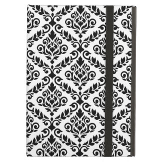 Prima Damask Big Ptn Black on White iPad Air Cases