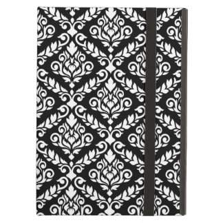 Prima Damask Big Ptn White on Black iPad Air Covers