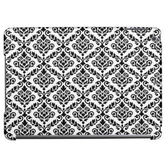 Prima Damask Horizontal Ptn Black on White Case For iPad Air