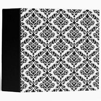 Prima Damask Pattern Black on White Binder