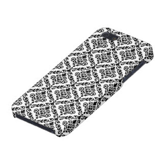 Prima Damask Pattern Black on White Cover For iPhone SE/5/5s