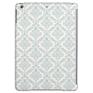 Prima Damask Pattern Blue on Cream iPad Air Cases