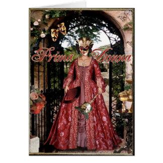 Prima Donna Collage Card