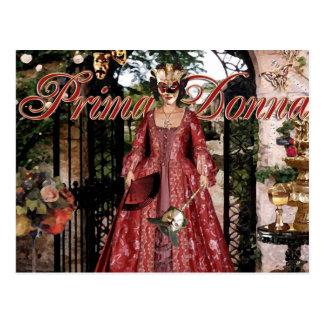 Prima Donna Collage Postcard