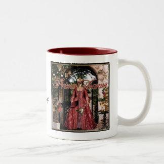 Prima Donna Collage Two-Tone Coffee Mug