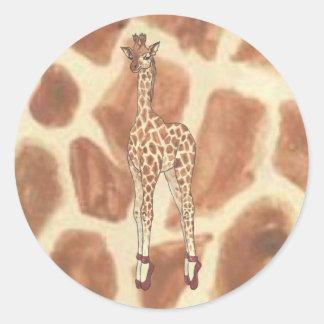 Prima Donna Giraffe Classic Round Sticker