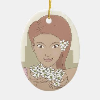 Prima Rosa Girl Ornament