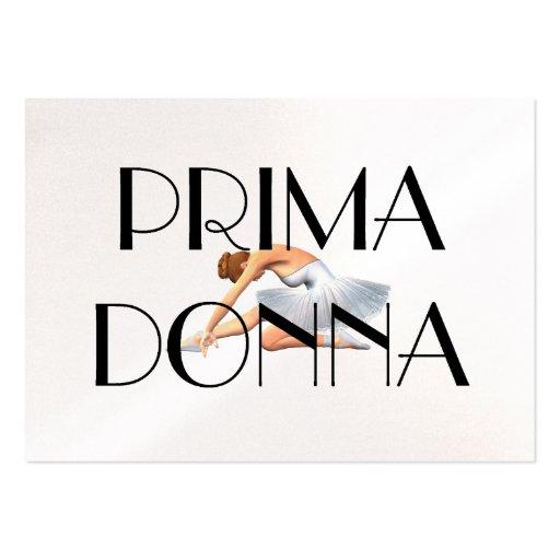 Prima SUPERIOR Donna Tarjetas De Visita Grandes
