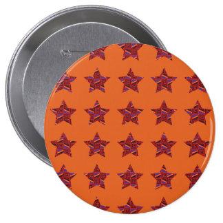 primal design star pattern pinback button
