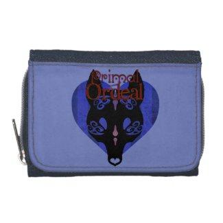 "Primal Ordeal ""Wolf Mask"" Logo Denim Wallet"