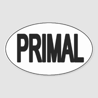 Primal Oval Sticker