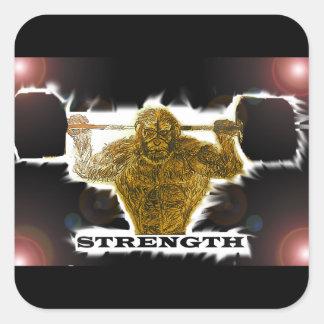 Primal Strength Square Sticker