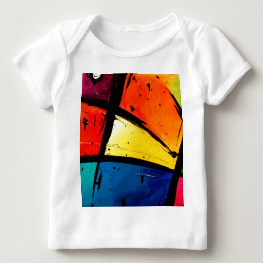 Primary Abstract Groovy Art Baby T-Shirt