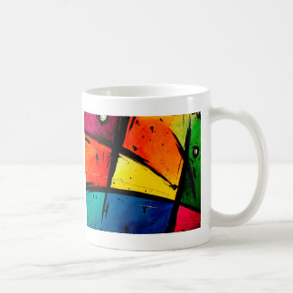 Primary Abstract Groovy Art Classic White Coffee Mug