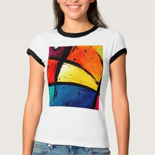 Primary Abstract Groovy Art Tshirt