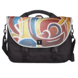 Primary Abstract Messenger Commuter Bags