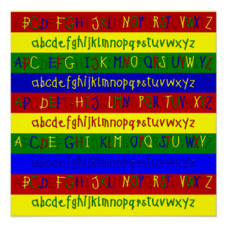 Primary Alphabet Strips-20 x 20 Wall Poster