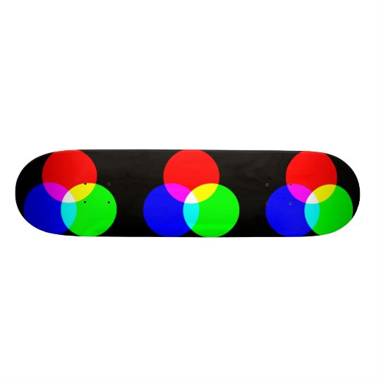 Primary And Secondary Colors Skateboard Deck