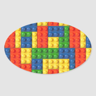 Primary Blocks Oval Sticker
