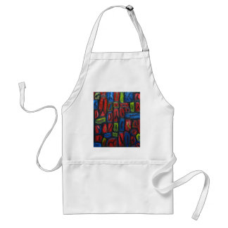Primary Color Abstract Prison Cells Adult Apron