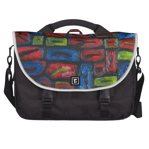 Primary Color Abstract Prison Cells Laptop Bags