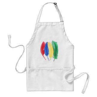 Primary color artistic feathers adult apron