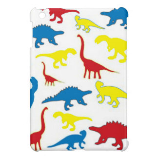 Primary color dinosaurs pattern iPad mini cases