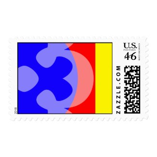 primary color flower stamp