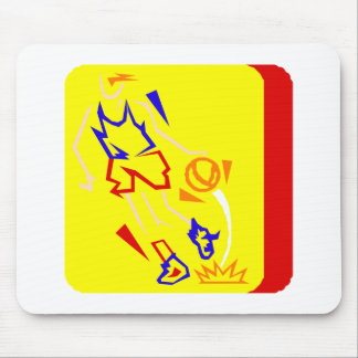 Primary color player mouse pad
