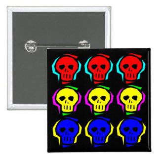 Primary Color Skulls Buttons