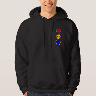 Primary Color Skulls Hooded Pullover