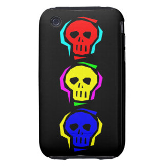Primary Color Skulls iPhone 3 Tough Cover