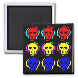 Primary Color Skulls Magnet
