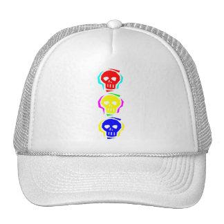 Primary Color Skulls Trucker Hat