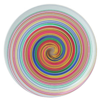 Primary Color Swirls Plate