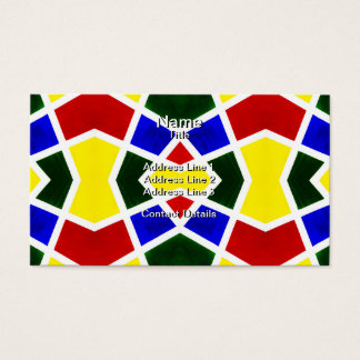 Primary Color Symmetry 1 Business Card