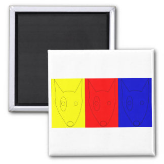 Primary Color Terriers Magnet