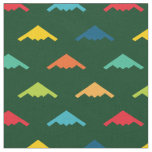 Primary Colored B-2 Spirit Stealth Bomber Pattern Fabric