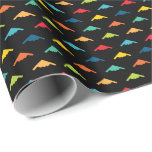 Primary Colored B-2 Spirit Stealth Bomber Pattern Wrapping Paper