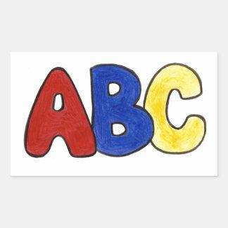 Primary Colors ABC Spelling Teacher Stickers