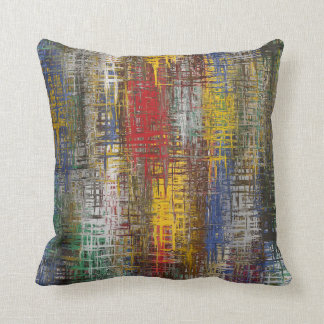 Primary colors abstract throw pillow