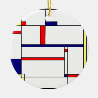 Primary Colors and Shapes Ceramic Ornament