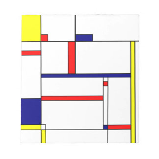 Primary Colors and Shapes Notepad