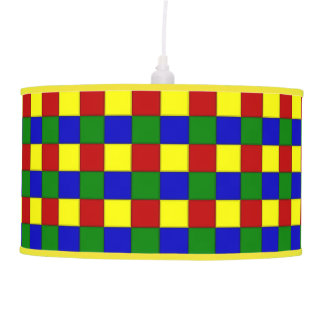 Primary Colors Beveled Tile Squares-Pendant Lamp