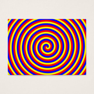 Primary Colors. Bright and Colorful Spiral. Business Card